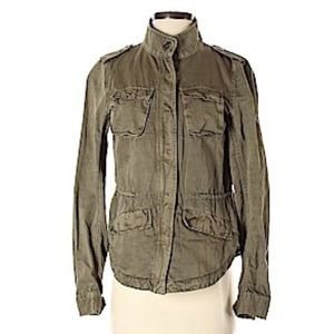 LOFT Petite Utility Jacket in Washed Army Green